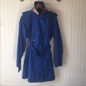 Blue Burberry Trench Rain Coat